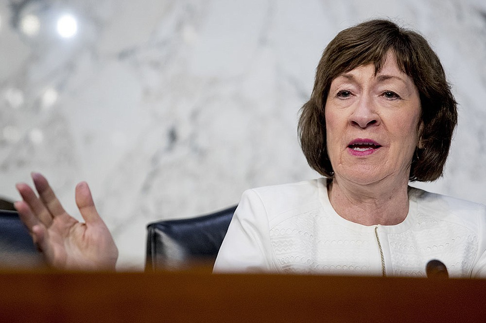 Sen. Susan Collins, R-Maine,†speaks during a Senate Intelligence Committee hearing on 'Policy Response to Russian Interference in the 2016 U.S. Elections' on Capitol Hill, Wednesday, June 20, 2018, in Washington. (AP Photo/Andrew Harnik)