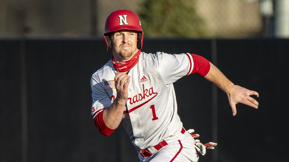Nebraska's Spencer Schwellenbach, who is the Cornhuskers' shortstop and closer, was voted the Big Ten player of the year. He batted .289 with 6 home runs and 35 RBI while also collecting 9 saves with a 0.71 ERA. (AP/Justin Hayworth)