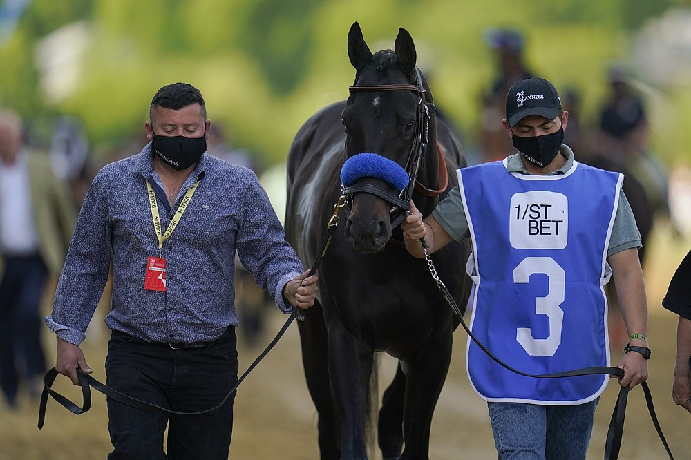 Medina Spirit's victory in the Kentucky Derby is in jeopardy after a second failed drug test. The only Derby winner to be disqualified for a failed drug test was Dancer's Image in 1968. (AP/Julio Cortez)