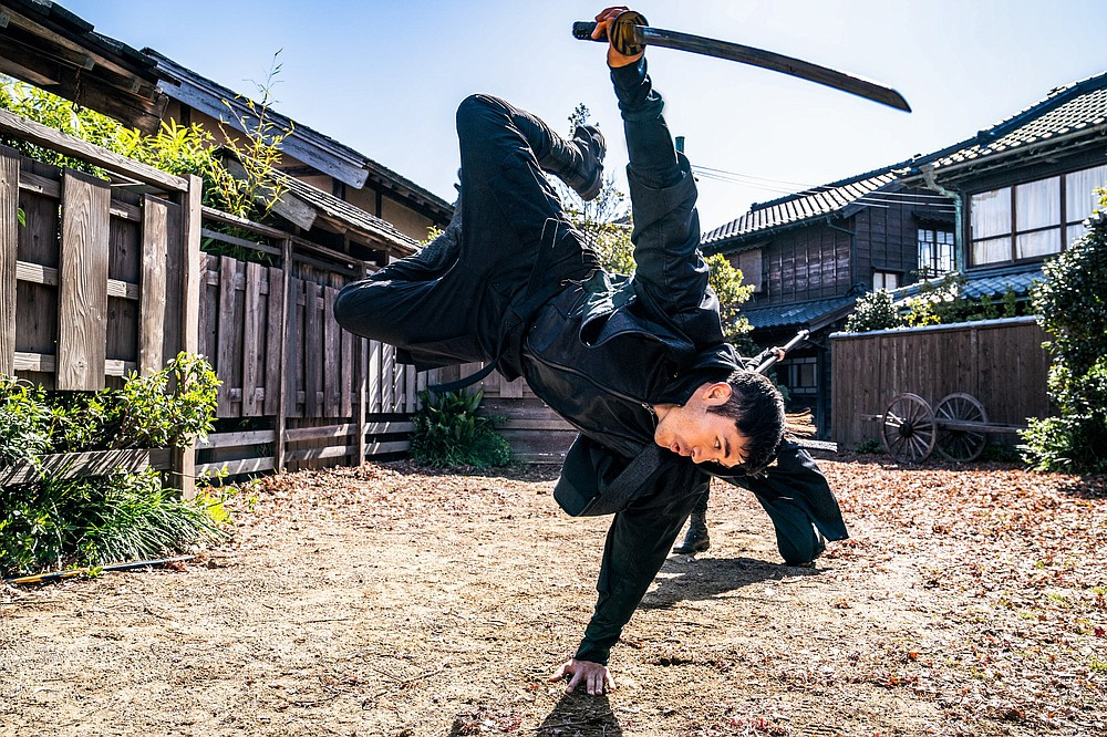 """Henry Golding plays a loner welcomed into an ancient Japanese clan called the Arashikage after saving the life of their heir apparent in """"Snake Eyes: G.I. Joe Origins."""""""