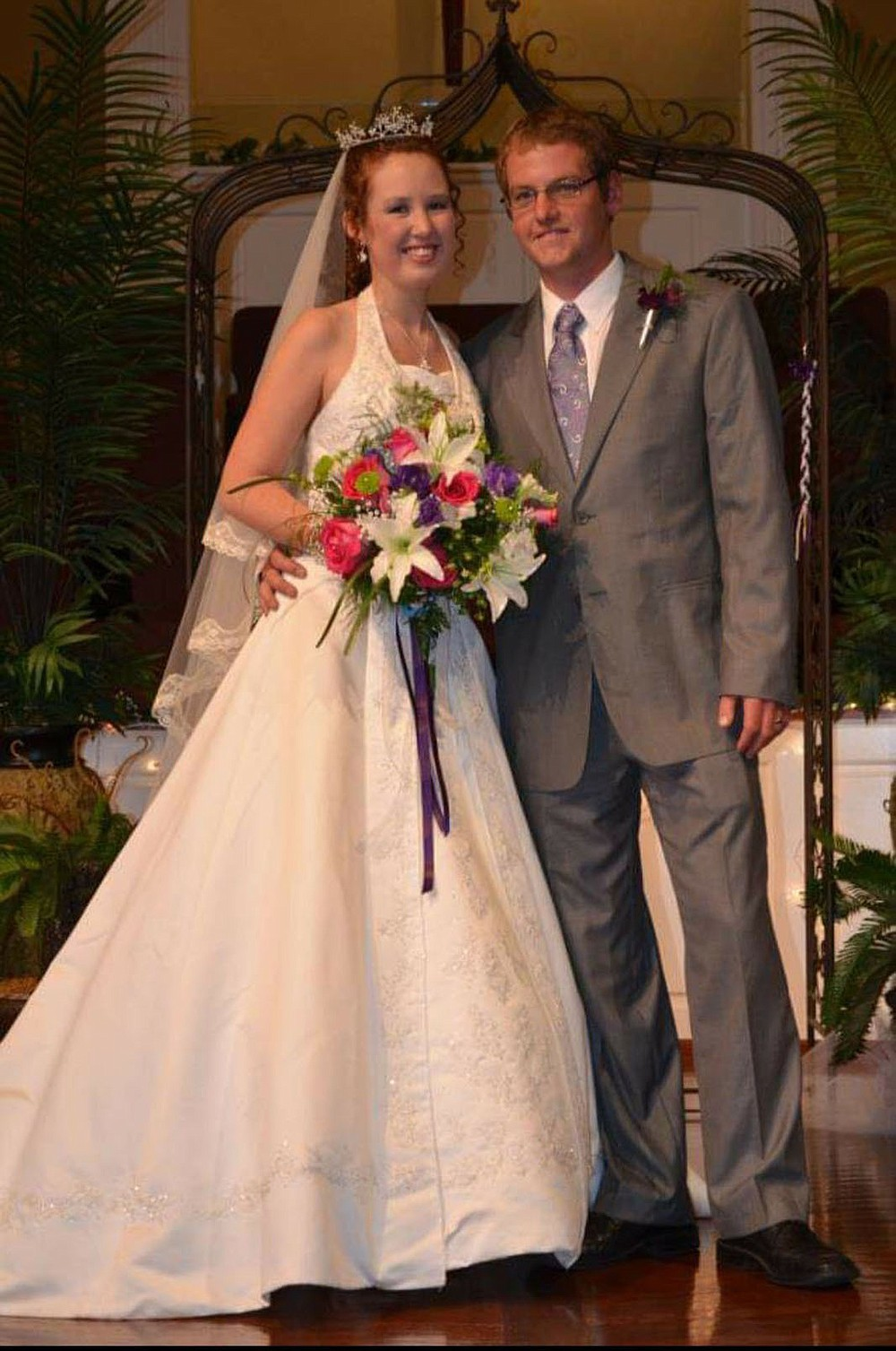 """Kayla and Rayce Dauber were married Oct. 22, 2011. """"My pastor told me to slow down and savor this day because this was the only day like this day I would get,"""" she says. """"I really felt like a princess all day."""" (Special to the Democrat-Gazette)"""