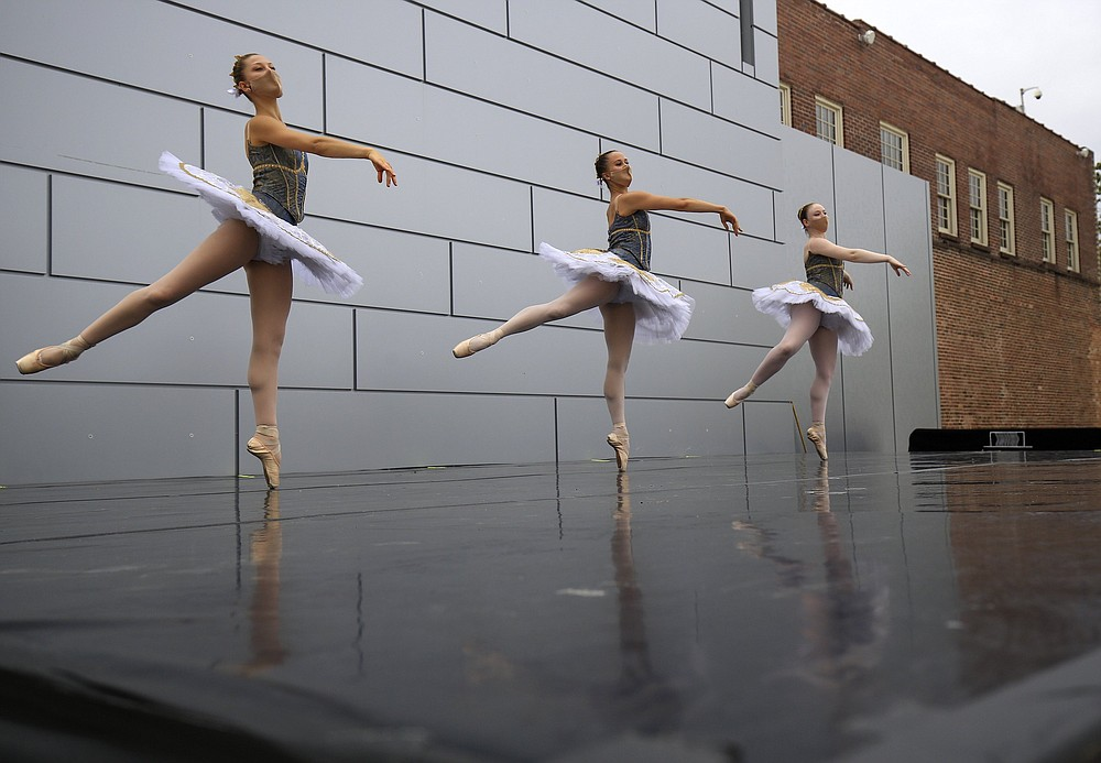 Ballet Arkansas returns to North Little Rock's Argenta Plaza for performances and classes in April-May 2022. (Democrat-Gazette file photo/Staton Briedenthal)
