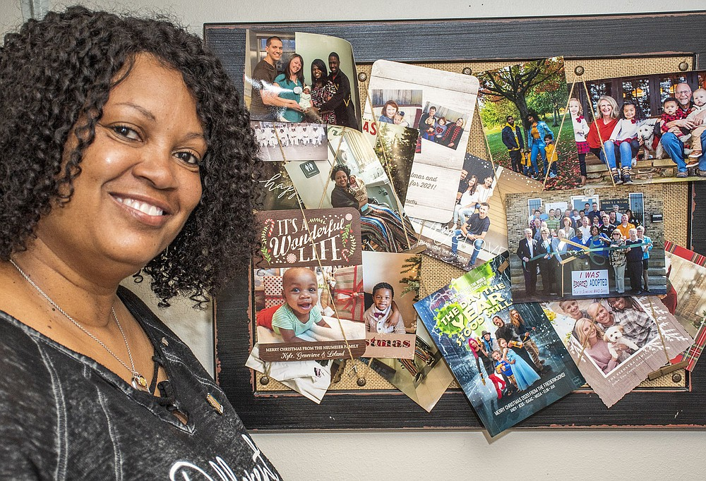 """""""Her faith drives her to action. Getting Angel's Choice Haven … off the ground was a very difficult task. Despite numerous setbacks, she continued to pursue her goal of providing this safe space."""" — Jason Bogardus, pastor of Cornerstone Bible Fellowship about Michelle Oglesby (Arkansas Democrat-Gazette/Cary Jenkins)"""