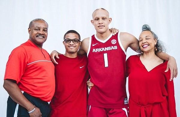 John, Joshua, Jordan and Sandra Walsh were very impressed with Arkansas during Jordan's official visit.
