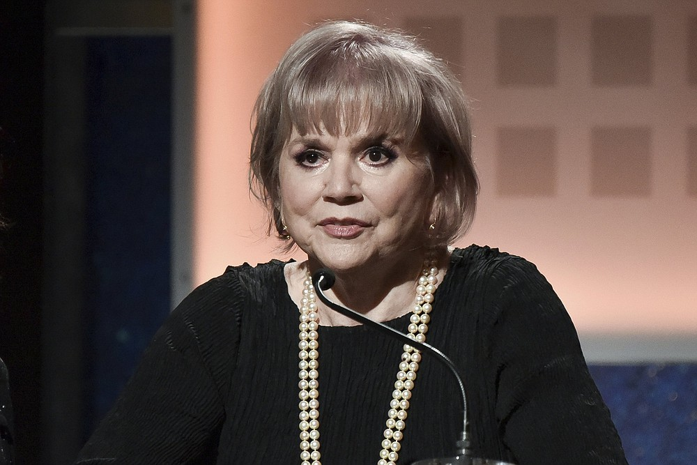 FILE - Linda Ronstadt speaks onstage at the 19th Annual Movies For Grownups Awards on Jan. 11, 2020, in Beverly Hills, Calif. Ronstadt turns 75 on July 15. (Photo by Richard Shotwell/Invision/AP, File)