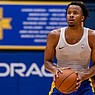 Moses Moody prepares to take a shot during a pre-draft workout with the Golden State Warriors on July 15, 2021. (Michelle Poole/Golden State Warriors)