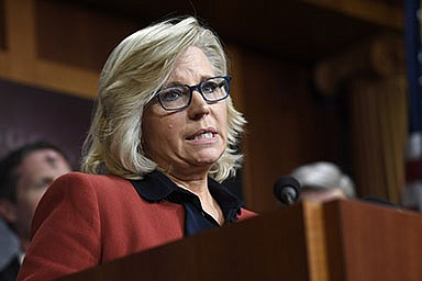 In this March 6, 2019, file photo, Rep. Liz Cheney, R-Wyo., speaks during a news conference on Capitol Hill in Washington.  (AP Photo/Susan Walsh, File)