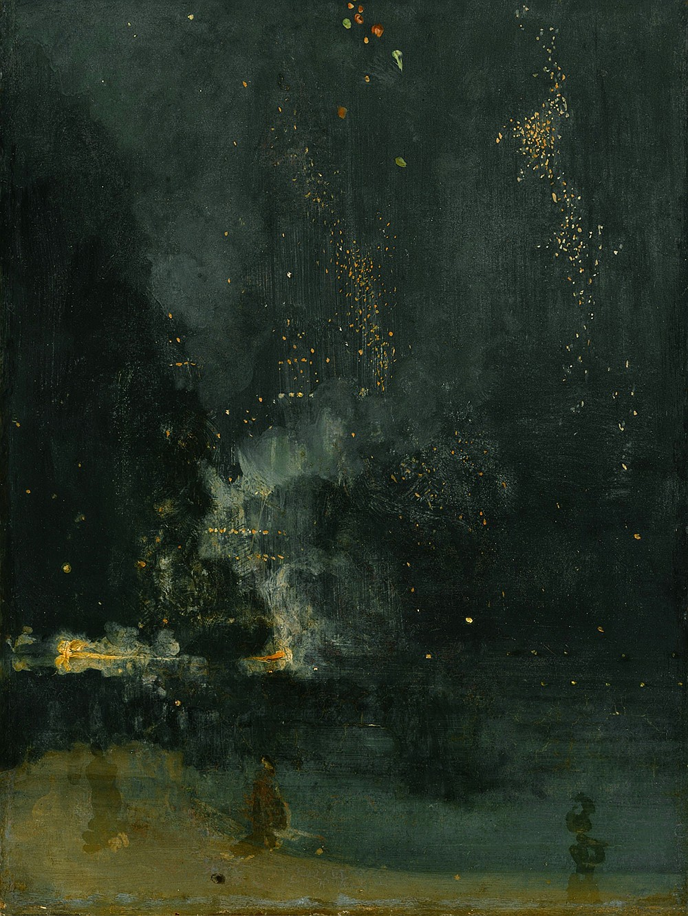 """""""Nocturne in Black and Gold, the Falling Rocket,"""" 1875, James Abbott McNeill Whistler"""