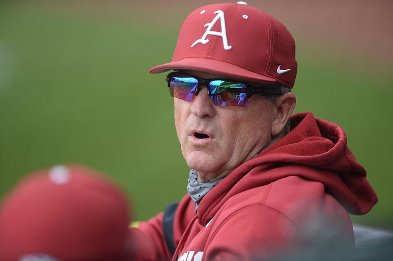 Arkansas Coach Dave Van Horn signed an agreement last week that will raise his salary to $1.25 million and extend his contract through 2026 with automatic 1-year rollovers each season that would take him through 2031. (NWA Democrat-Gazette/Andy Shupe)