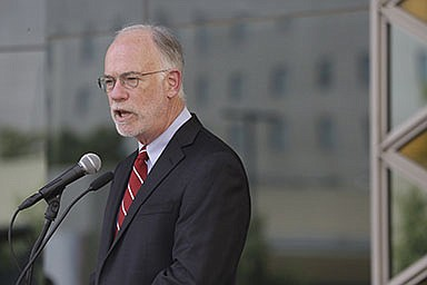 U.S. Ambassador Ross Wilson, the charge d'affaires at the American Embassy in Kabul, said Friday that many difficulties lie ahead for the thousands of Afghans awaiting transfer to the United State. (AP/Mariam Zuhaib)
