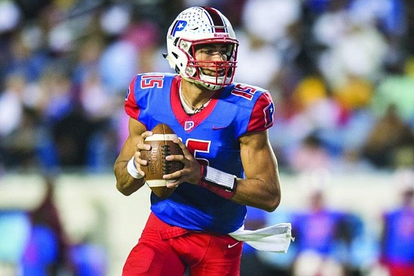 Landon Rogers of Little Rock Parkview leads the Patriots against Benton on Friday night in a matchup between the third- and fourth-ranked teams in Class 6A. (Arkansas Democrat-Gazette file photo)