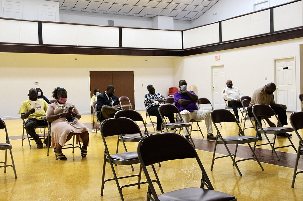 The community turnout wasn't as expected with only about a dozen in attendance during Tuesday's United Citizens of Pine Bluff Town Hall meeting for the Fourth Ward.  (Pine Bluff Commercial/Eplunus Colvin)