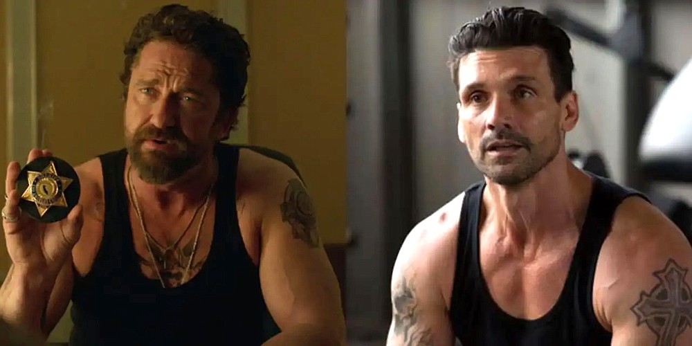 """Lock them up: Would-be hit man Bob Viddick (Gerard Butler) gets himself tossed in jail to get next to his intended victim, Teddy Murretto (Frank Grillo) in Joe Carnahan's over-the-top """"Copshop."""