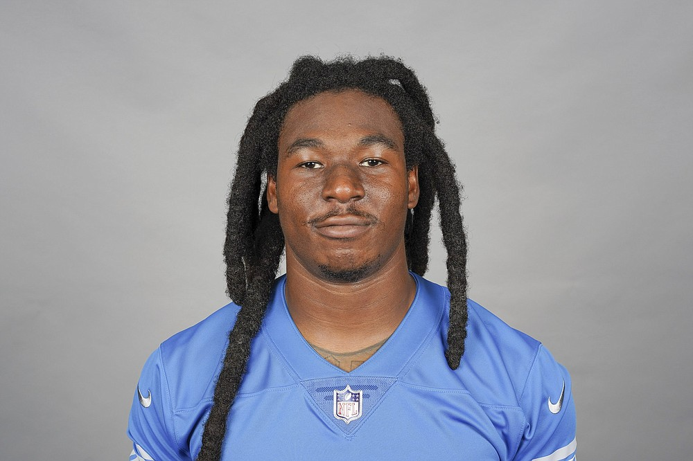 This is a 2021 photo of Jamaal Williams of the Detroit Lions NFL football team. This image reflects the Detroit Lions active roster as of Monday, June 7, 2021 when this image was taken. (AP Photo)