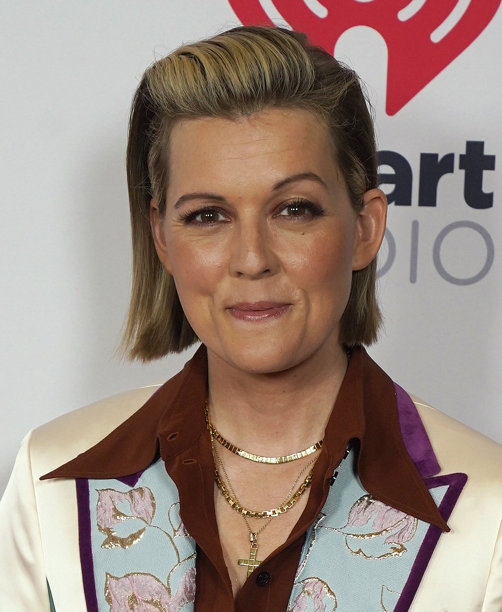 Brandi Carlile attends the iHeartRadio Music Awards at the Dolby Theatre on Thursday, May 27, 2021, in Los Angeles. (AP Photo/Chris Pizzello)
