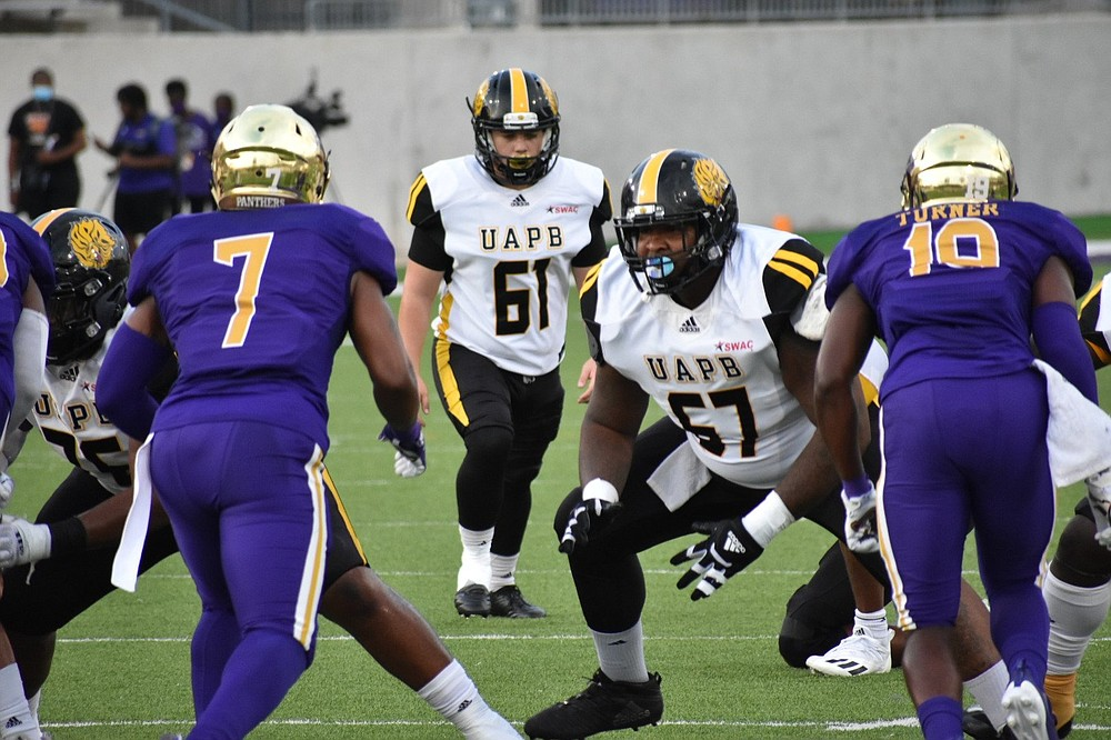 UAPB place-kicker Zack Piwniczka sets up for a 39-yard field goal against Prairie View A&M to open the scoring Thursday in Prairie View, Texas.  (Pine Bluff Commercial/I.C. Murrell)