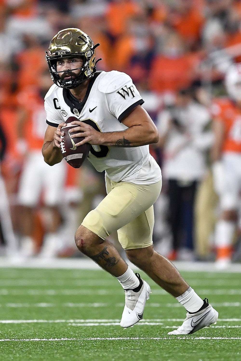 Sophomore quarterback Sam Hartman has helped lead Wake Forest (6-0) to a No. 16 AP Top 25 ranking and a 4-0 start in the Atlantic Coast Conference. (AP/Adrian Kraus)