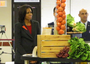 Michelle Obama visited Little Rock Air Force Base Thursday to help announce a program to make food at bases across the country healthier.