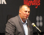 NOTE: This file is large and may take a few minutes to load. UA football coach Bret Bielema kicked off the Little Rock Touchdown Club's season Tuesday, speaking to a record crowd for the series at the Statehouse Convention Center.