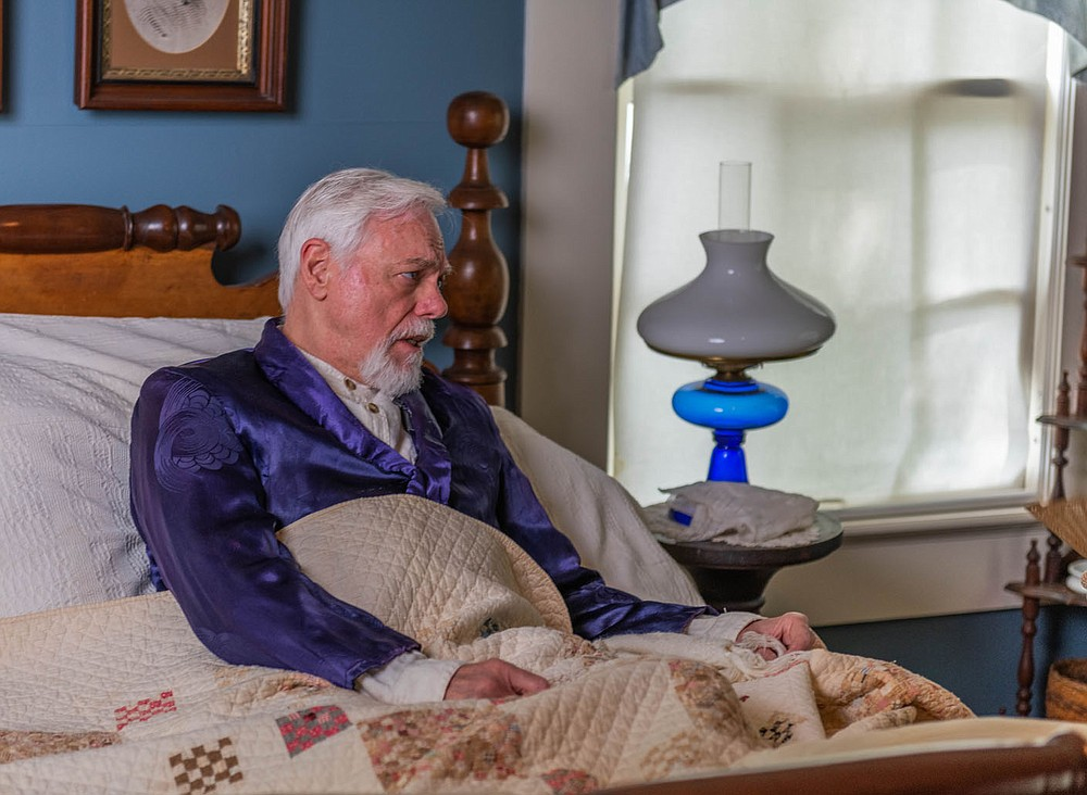 """Fayetteville actor Bill Rogers uses Judge Isaac Parker's own words in this scene from """"Indians, Outlaws, Marshals and the Hangin' Judge."""" (Courtesy Photo/James Brewer)"""