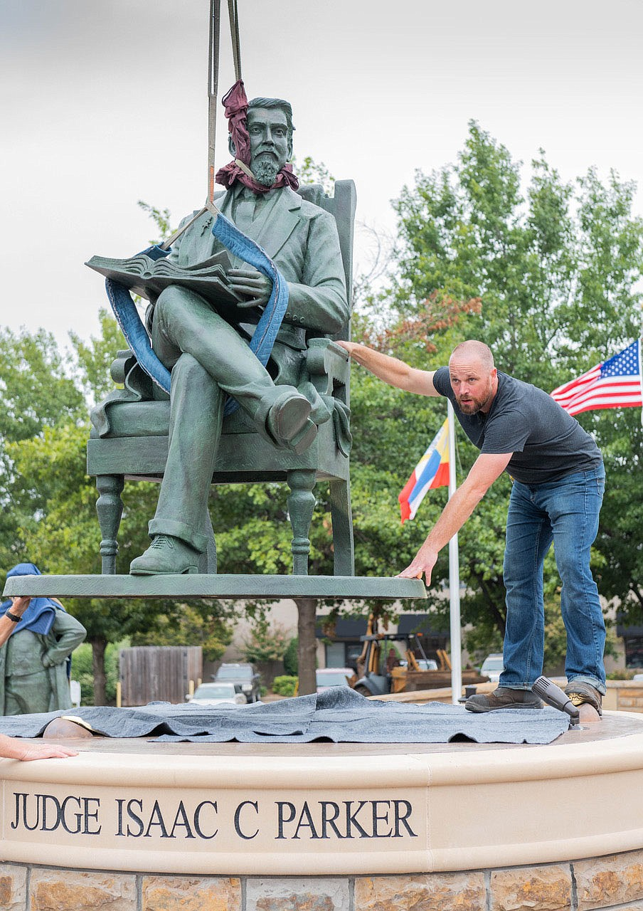 """The city was so sick of his sordid fame as the hanging judge that the mayor ordered the gallows burned down following his death,"" filmmaker Larry Foley says of Judge Isaac Parker. ""But that wasn't the end of the story. Last fall, Fort Smith dedicated a statue in his honor, celebrating Judge Parker, the community citizen."" (Courtesy Photo/James Brewer)"