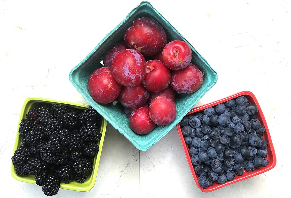 Local berries and plums are ripe for jam making. (Arkansas Democrat-Gazette/Kelly Brant)