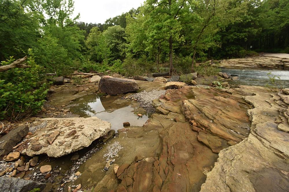 Unique rock formations are nature's artwork at Natural Dam. (NWA Democrat-Gazette/Flip Putthoff)