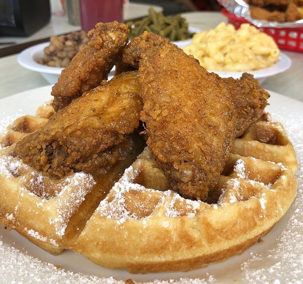 Ceci's Chicken N Waffles has shuttered its brick-and-mortar location on Little Rock's Colonel Glenn Road and now operates out of a food truck parked on South University Avenue.  (Democrat-Gazette file photo)