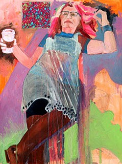 Self-Portrait with Coffee by Margaret Correll  (Courtesy Photo)