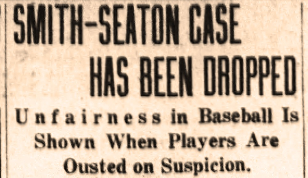 Headline from the Dec. 10, 1920, Arkansas Democrat reflects the outcome of Luther Casey Smith and Tom Seaton's case against the Southern League of pro baseball. For Old News.(Arkansas Democrat-Gazette)