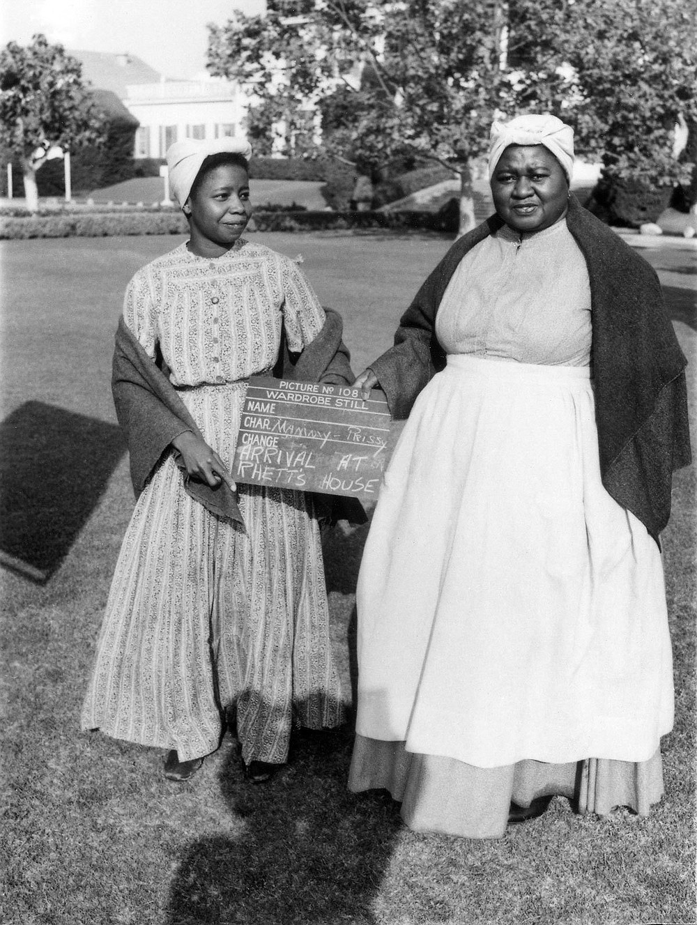 Butterfly McQueen (left) and Hattie McDaniel in a behind-the-scenes production still from Gone With the Wind.