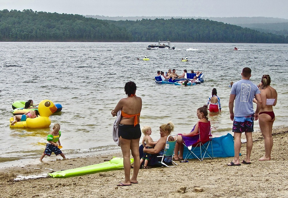 The Caddo Bend area of DeGray Lake Resort State Park is a magnet for families.  (Special to the Democrat-Gazette/Marcia Schnedler)