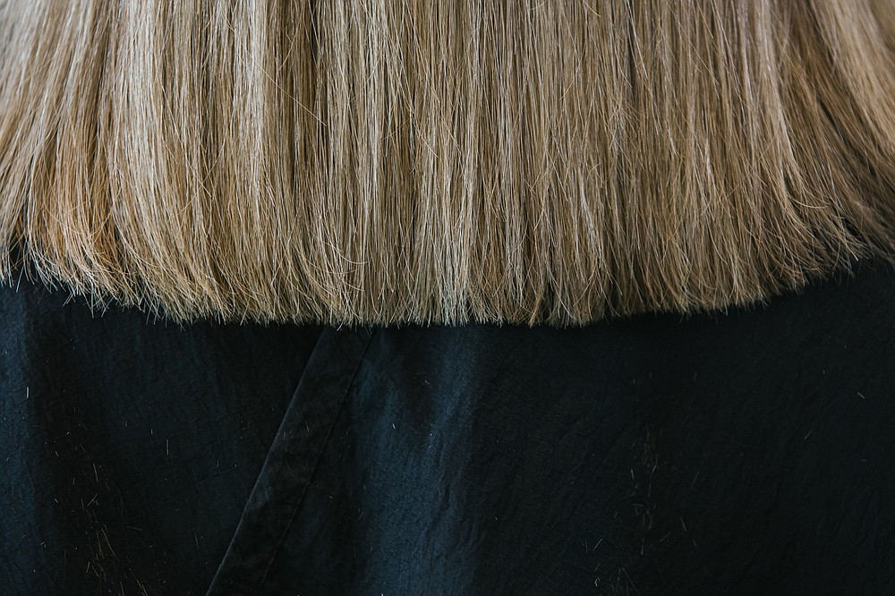 Beth Dickson's freshly cut and colored hair. MUST CREDIT: Photo for The Washington Post by Michelle Gustafson