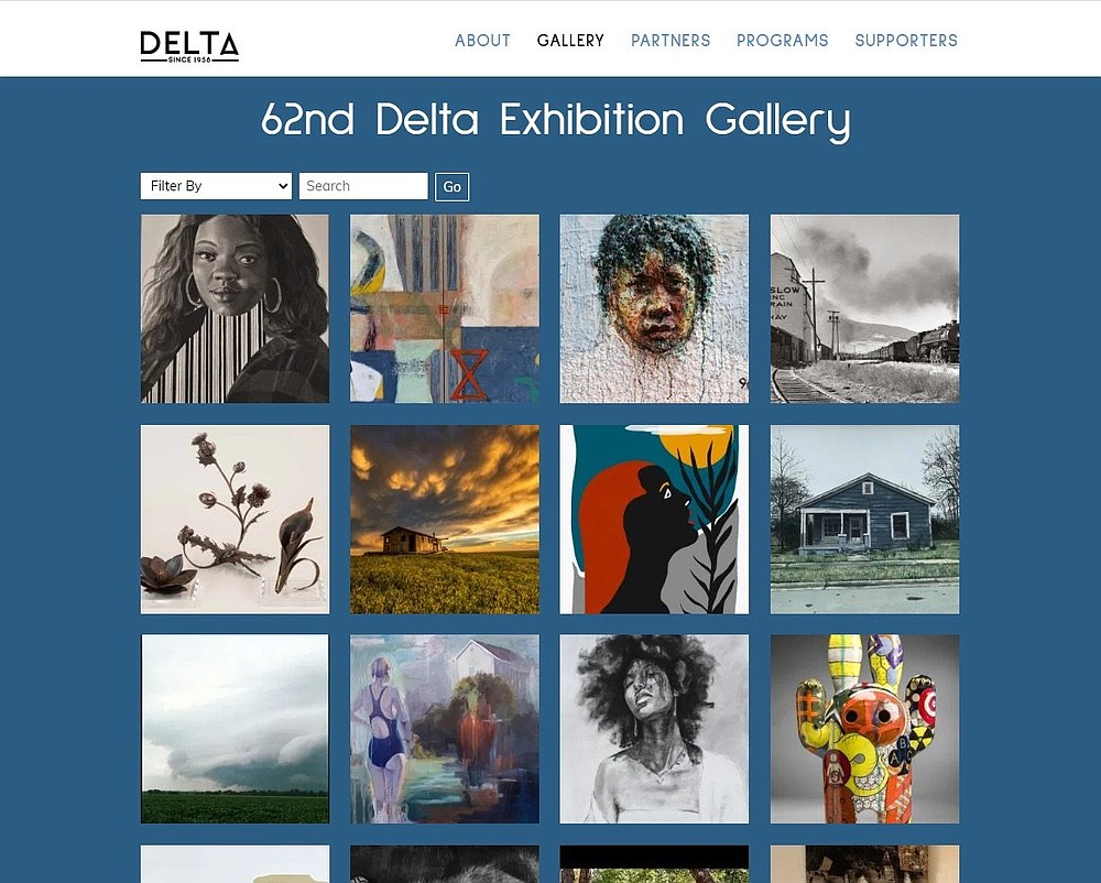 A screenshot from the Arkansas Arts Center's website shows the Delta Exhibition gallery. (Courtesy the Arkansas Arts Center)