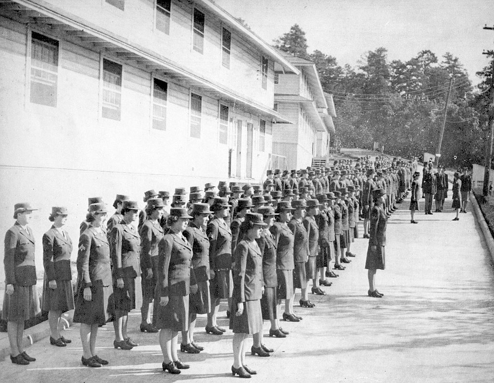 Members of the Women's Army Corps, or WACs, assemble for inspection at the Army and Navy General Hospital in the summer of 1943. They were attending the first school in the country for women military medical technicians. Although some would serve overseas, they were trained in order to free male soldiers working in stateside hospitals to serve overseas. Photo is courtesy of the Garland County Historical Society. - Submitted photo
