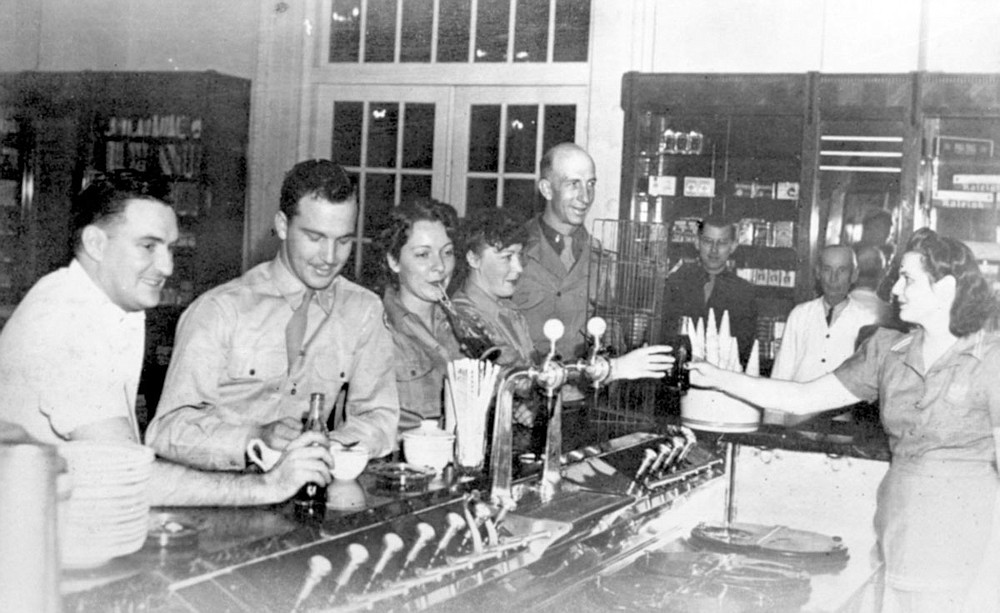 Soldiers enjoy the Enlisted Men's Exchange in the Eastman Annex of the Army and Navy General Hospital, circa 1944. Photo is courtesy of the Garland County Historical Society. - Submitted photo