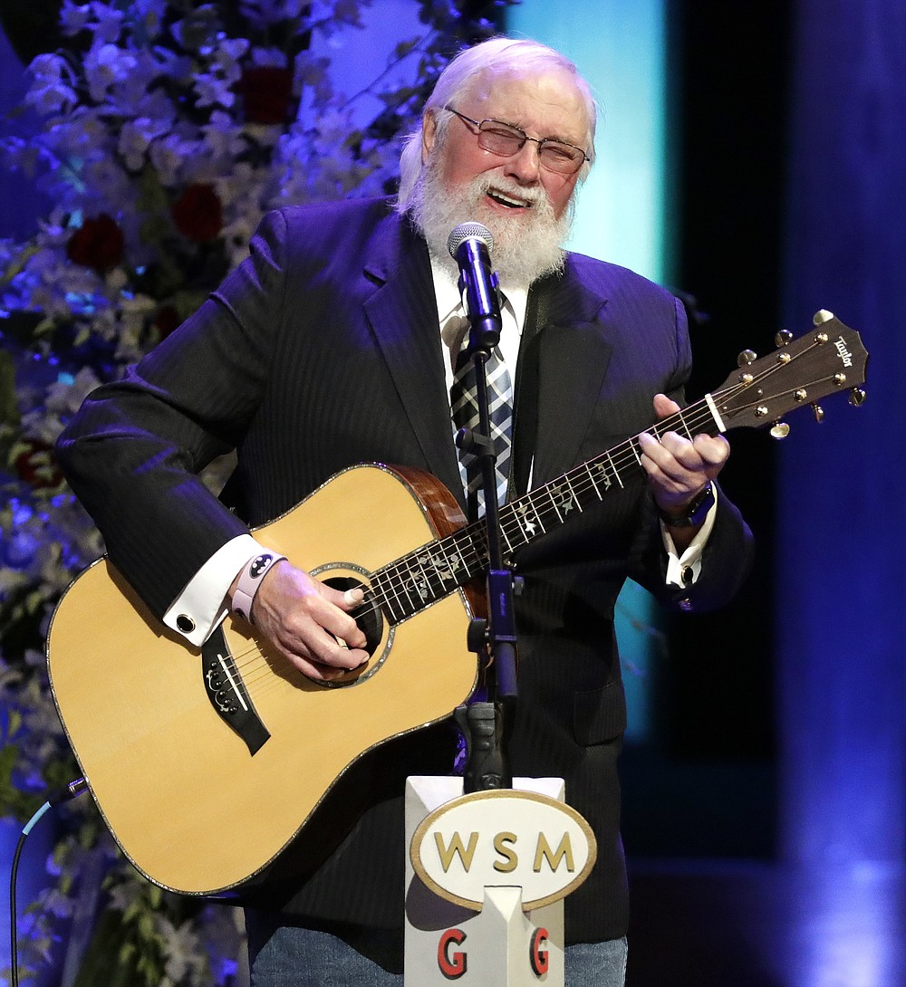 """FILE - Charlie Daniels performs during a memorial service for country music singer Troy Gentry at the Grand Ole Opry House on Sept. 14, 2017, in Nashville, Tenn. Daniels who had a hit with """"Devil Went Down to Georgia"""" has died at age 83. A statement from his publicist said the Country Music Hall of Famer died Monday due to a hemorrhagic stroke.  (AP Photo/Mark Humphrey, File)"""
