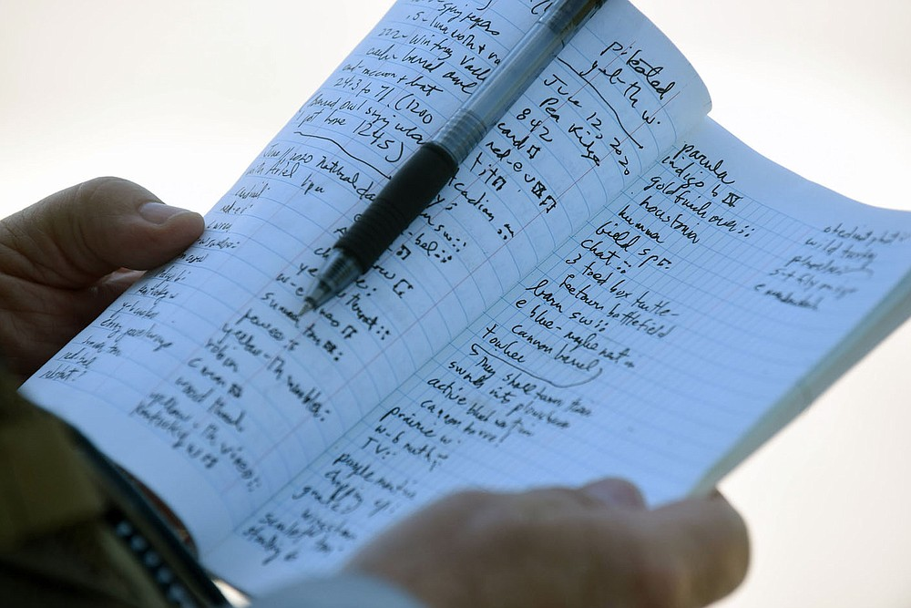 Neal's list of birds seen grows long during a morning trip to Pea Ridge National Military Park. (NWA Democrat-Gazette/Flip Putthoff)