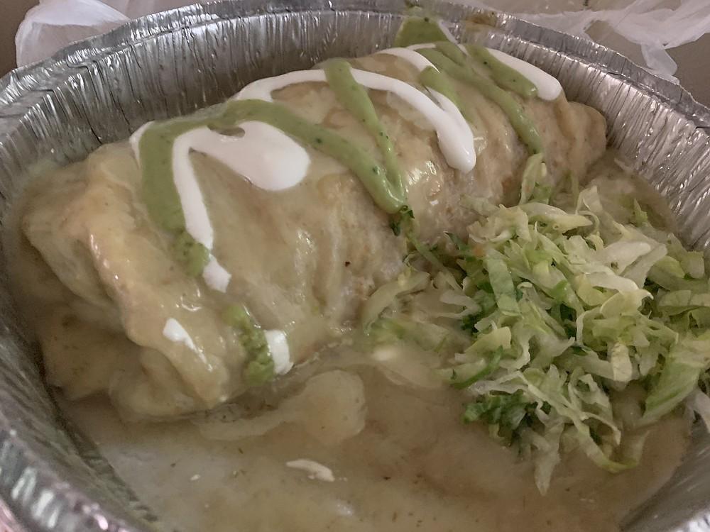 The Casa Manana Burrito is impressive in size if not entirely in savor. (Arkansas Democrat-Gazette/Eric E. Harrison)