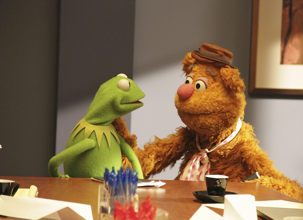"""Kermit the Frog and Fozzie Bear were part of the 2015 ABC-TV series """"The Muppets,"""" which drew attention for its single-camera mockumentary style. It was not well-received and was canceled after one season."""