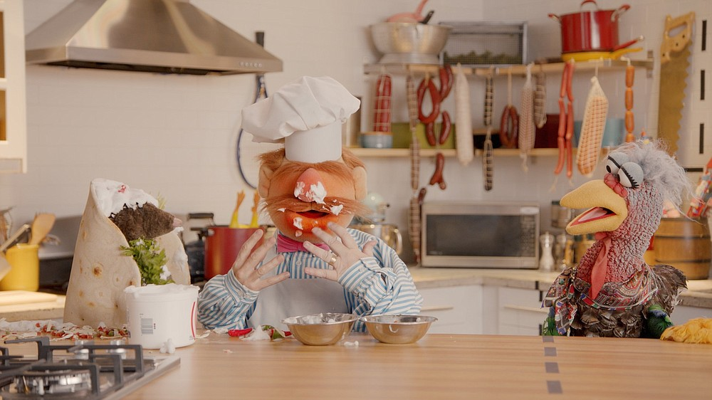 """Swedish Chef and Beverly Plume serve up a satire of online cooking shows in """"Muppets Now."""""""