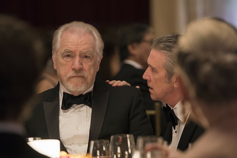 "This image released by HBO shows Brian Cox in a scene from ""Succession."" Nominations for the  Emmy Awards will be announced on Tuesday, July 28. (HBO via AP)"