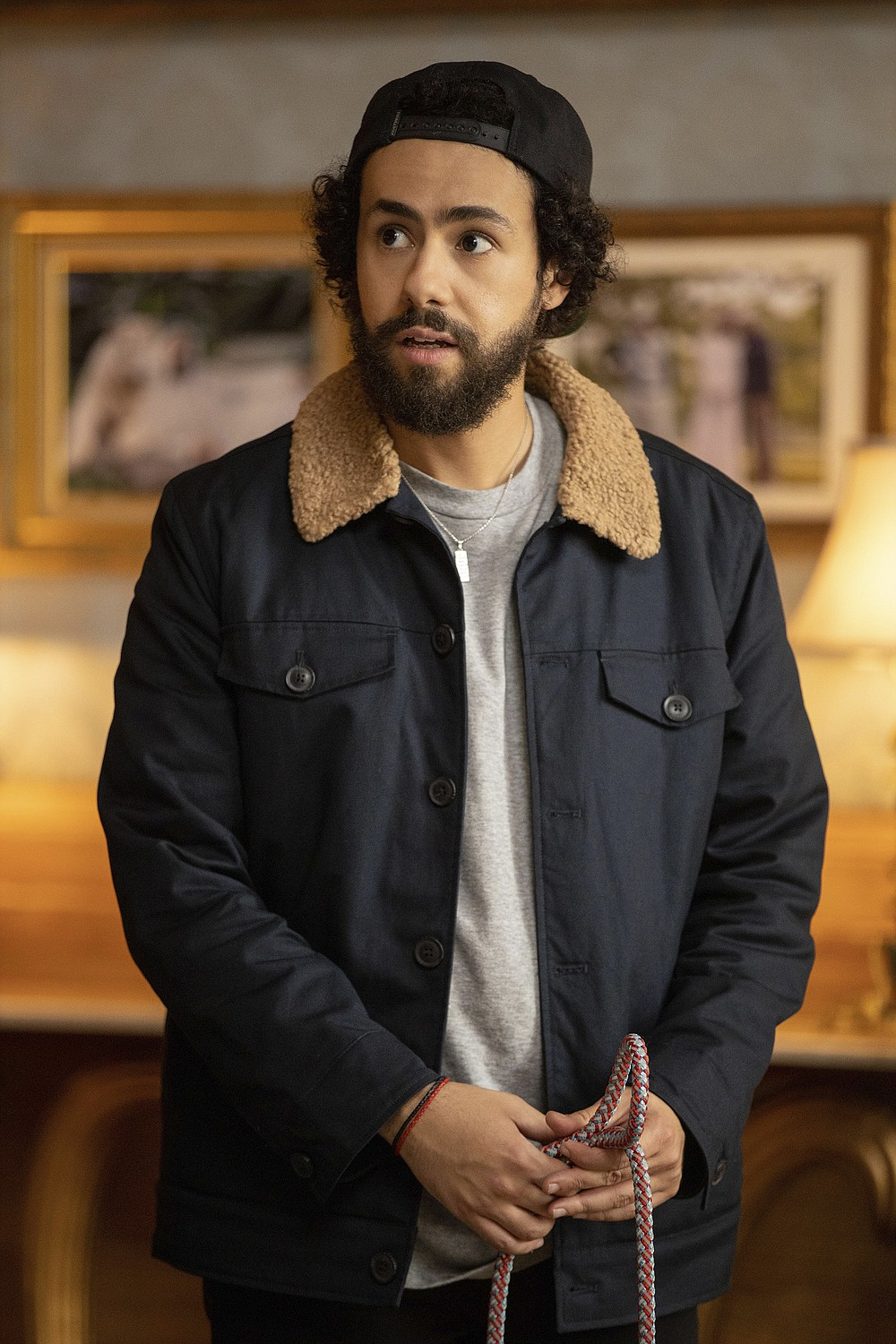 "This image released by Hulu shows Ramy Youssef in a scene from ""Ramy."" Youssef was nominated for an Emmy Award for outstanding lead actor in a comedy series on Tuesday, July 28, 2020. (Craig Blankenhorn/Hulu via AP)"