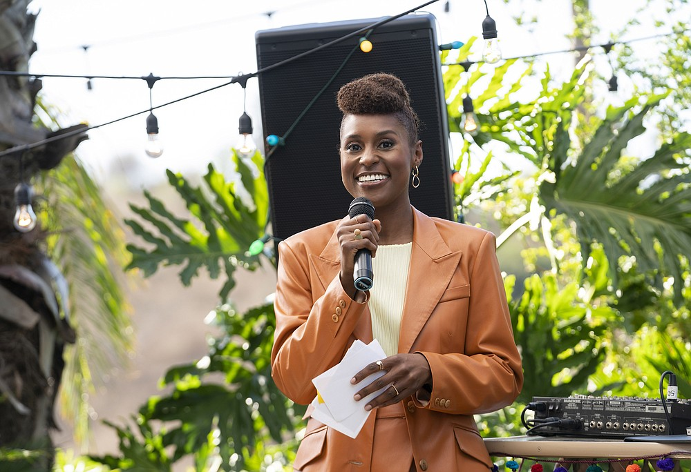 "This image released by HBO shows Issa Rae in a scene from ""Insecure."" Rae was nominated for an Emmy Award for outstanding lead actress in a comedy series on Tuesday, July 28, 2020. (Merie Weismiller Wallace/HBO via AP)"