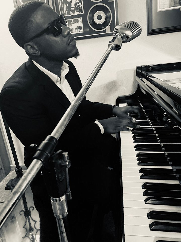 Joe Beasley as Ray Charles heads up the list of performers for the KTVE Boomtown Opry's annual Rock 'N' Roll Show, focusing on music of the'50s and '60s, Saturday at the El Dorado Municipal Auditorium.  (Special to the Democrat-Gazette)