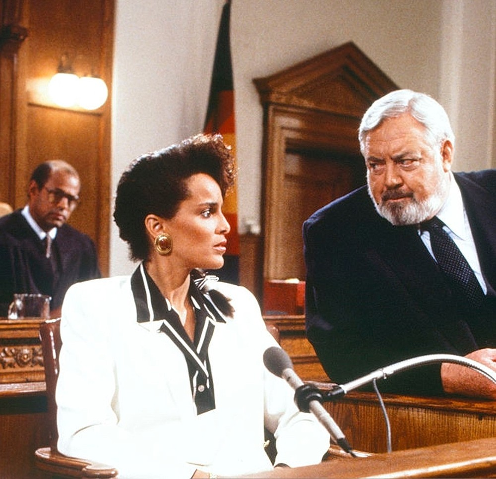 "Shari Belafonte and Raymond Burr appear in the 1989 TV movie ""Perry Mason: The Case of the All-Star Assassin."""