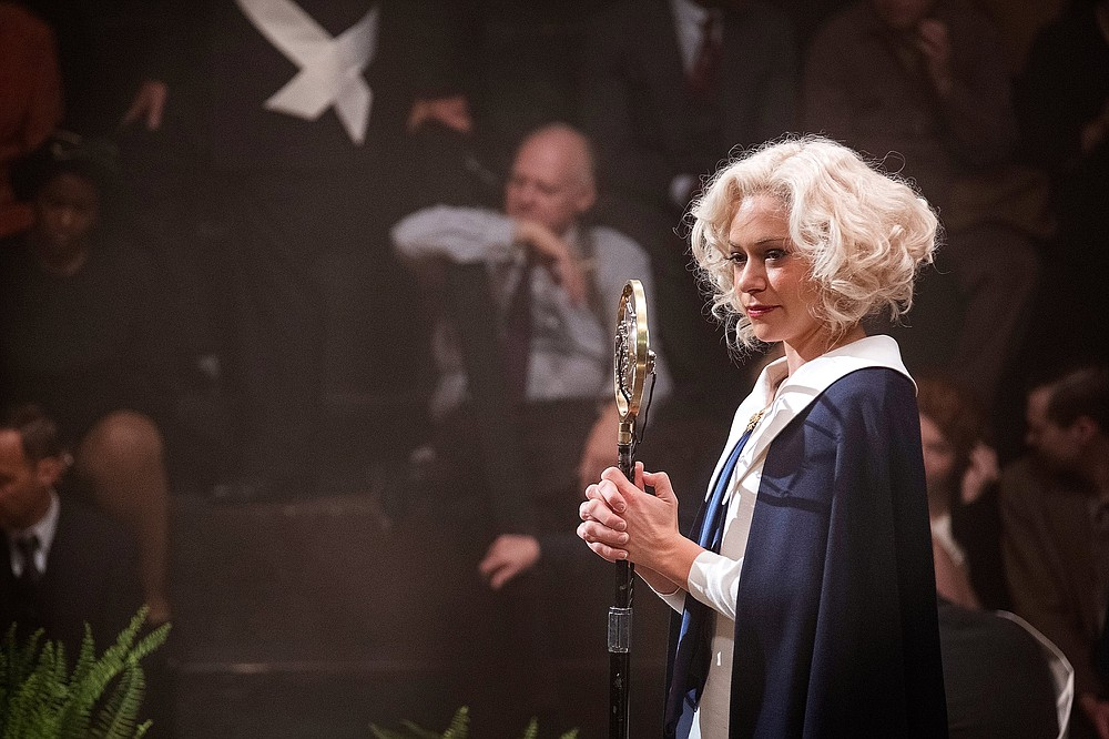 "Tatiana Maslany plays Sister Alice McKeegan, a stand-in for Aimee Semple McPherson in HBO's ""Perry Mason."""