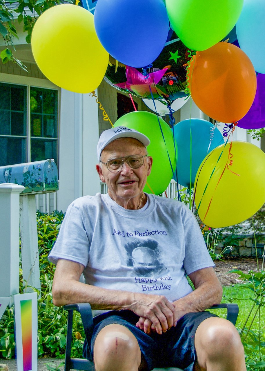 Dan Willkens at his 90th birthday celebration. MUST CREDIT: Photo courtesy of Diane Willkens