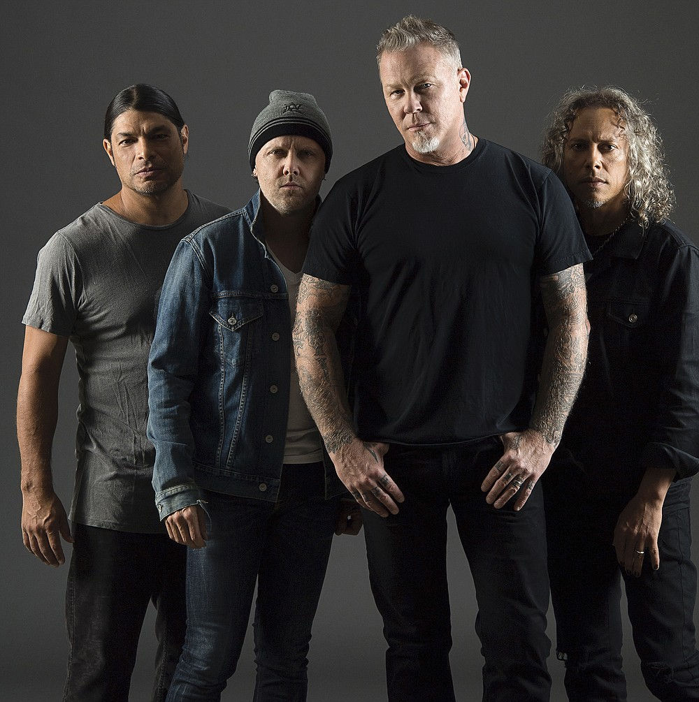 Metallica headlines a concert Aug. 29 on drive-in movie screens nationwide. (Special to the Democrat-Gazette/Ross Heflin)