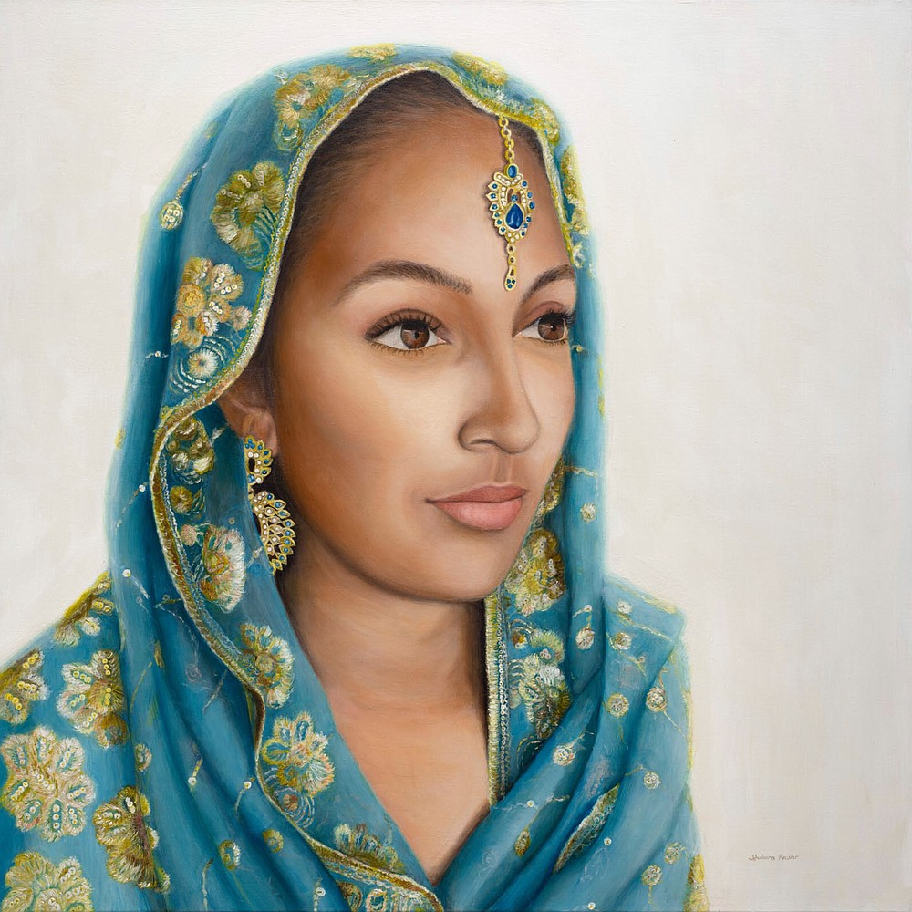 """After moving to the U.S. in 2008 and dealing with the challenging immigration laws, I eventually found my voice through art,"" Shabana Kauser reveals. ""People can relate to stories of strength, determination, hope and courage — these are just some of the traits of South Asian immigrant women in my work.""  (Image courtesy of the artist)"